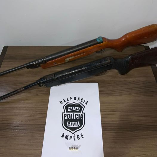 Polícia Civil de Ampére prende homem e localiza armas